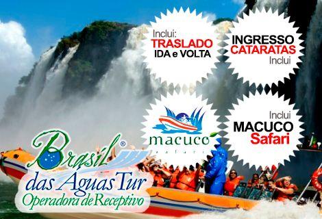 Pacote Catarata Brasileira + Macuco Safari