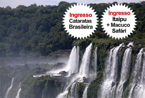 Pacote Cat. Brasileira + Itaipu + Macuco Safari