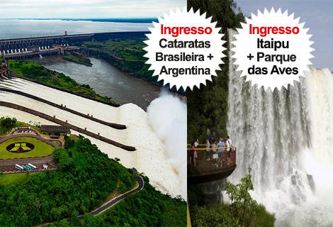 Pacote Cat. Brasil/Arg. + Itaipu + Pq. das Aves