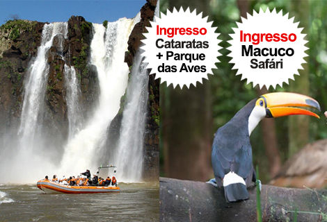 Pacote Cat. Brasil + Macuco Safari + Pq. das Aves