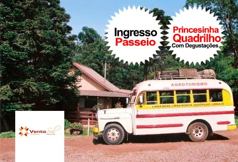 Passeio o Quatrilho a bordo da Princesinha
