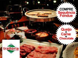 Sequência de Fondue completo Restaurante Trattoria Del Corso