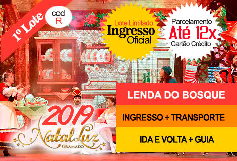 INGRESSO NATAL LUZ / LENDA DO BOSQUE: Transporte + Guia