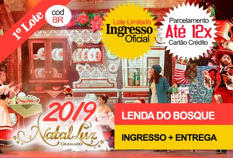 INGRESSO NATAL LUZ/LENDA DO BOSQUE DE NATAL:Entrega no Hotel
