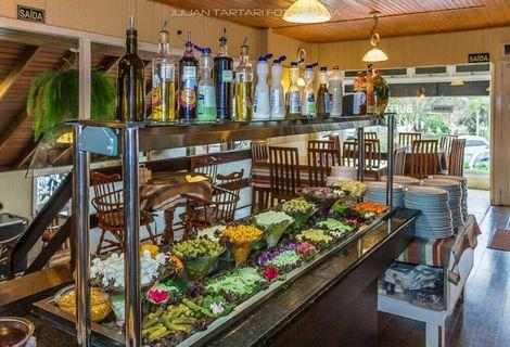 Buffet Livre de Comida Colonial + Churrasco Rest. Casa Nossa