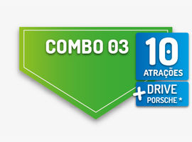 Gramado Pass - Combo  3 - 10 Parques + Drive Porsche