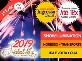 INGRESSO NATAL LUZ / SHOW DO LAGO: Com Transporte + Guia