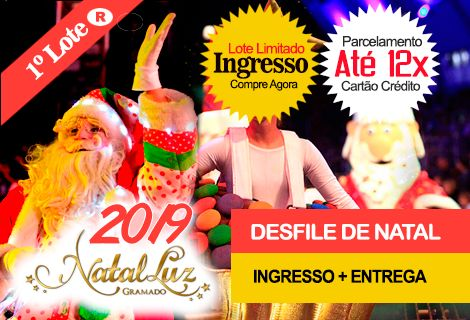 INGRESSO NATAL LUZ / DESFILE DE NATAL: Com Entrega no Hotel