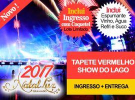 INGRESSOS TAPETE VERMELHO  / SHOW DO LAGO / INCLUI COQUETEL