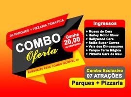 Combo Passaporte Dreams + Terra Mágica + Pizzaria Temática