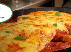 Bife à Parmegiana para 02 pessoas Restaurante Piato de Parma
