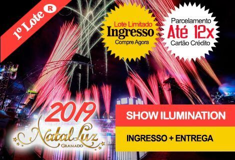 INGRESSO NATAL LUZ / SHOW DO LAGO: Com Entrega no Hotel