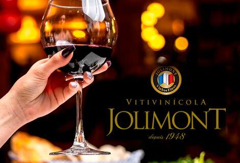Vinícola Jolimont com Degustação de Vinhos e ganhe uma taça personalizada.