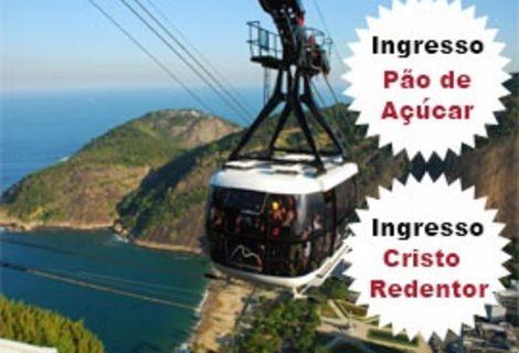 Ingresso Cristo Redentor e Pão de Açucar + City Tour Rio