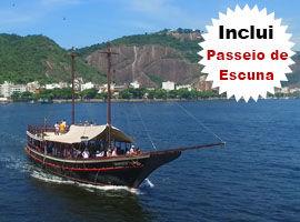 Passeio de Escuna Baía de Guanabara Saída Marina da Glória